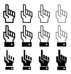 Hand with warning forefinger - easy change vector