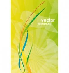 Modern floral background vector