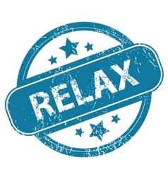 Relax round stamp vector