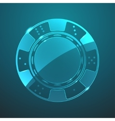 Glass chip icon vector