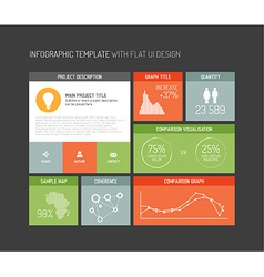 Flat user interface infographic vector