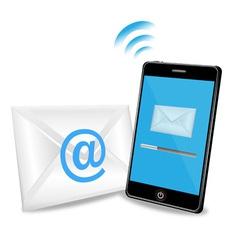 Smart phone sending email vector