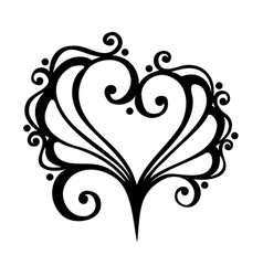Deco floral heart vector