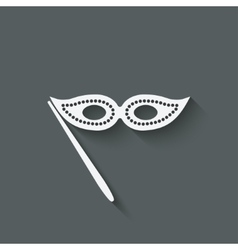 Masquerade mask symbol vector