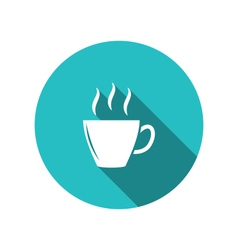 Coffee or tea cup trendy flat minimal style - vector