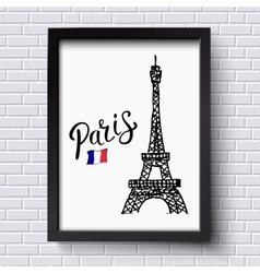 Tourism poster or card design for paris vector