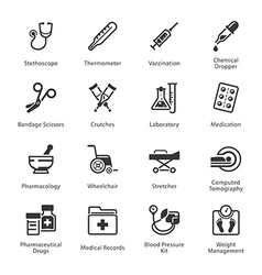 Medical and health care icons set 1 - equipment vector