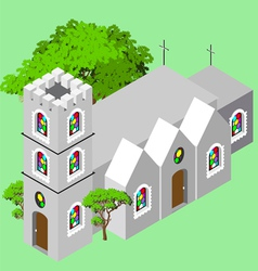 Isometric castle church vector