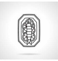 Black line icon for seafood vector