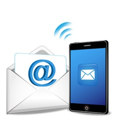 Smart phone sending email vector