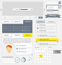 Website template infographic design menu vector