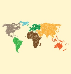 World continent colors vector