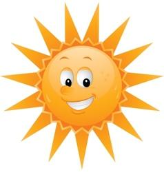 Cartoon sun smiley face vector