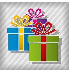 Gift boxes vector