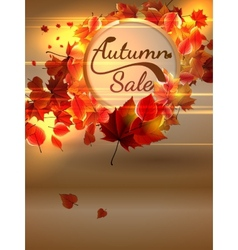 Autumn sale background with copyspace plus eps10 vector