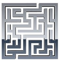 3d shiny maze vector