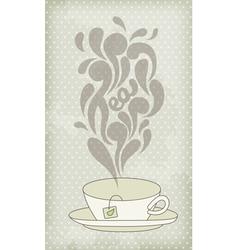 Steaming hot tea vector
