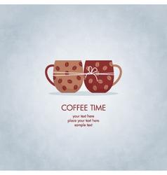 Coffee card vector
