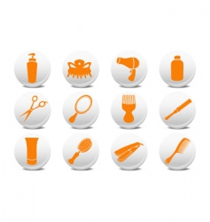 Buttons set for hairdressing salo vector