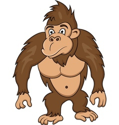 Gorilla cartoon vector