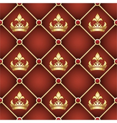 Seamless upholstery pattern vector