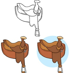Cartoon horse saddle vector