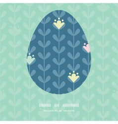 Blloming vines stripes easter egg vector