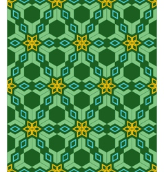Abstract geometric blue green yellow seamless vector