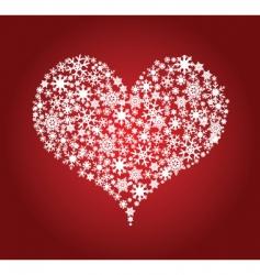 Heart snowflakes vector