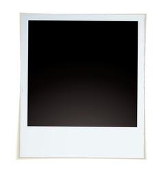 Retro instant photograph vector