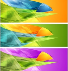 Bright banners with abstract shapes vector