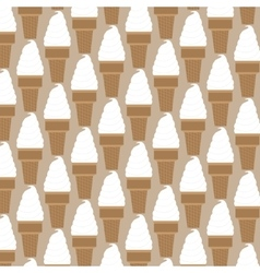 Ice cream pattern in swatches vector