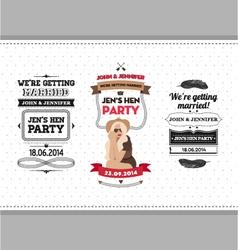 Hen party ivitation vector