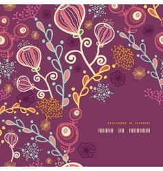 Underwater plants corner frame pattern background vector