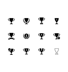 Trophy icons on white background vector