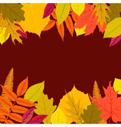 Card with autumn decor vector
