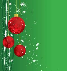 Holiday ornaments vector