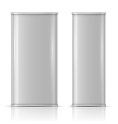 Tin oil can front and side view vector