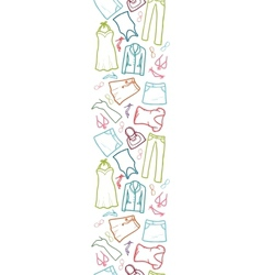 Wardrobe clothing vertical seamless pattern border vector