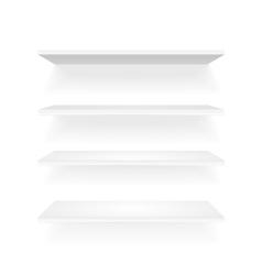 White shelf vector