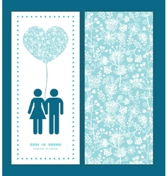 Blue and white lace garden plants couple in vector