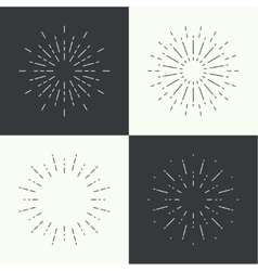 Set of vintage hipster banners insignias radial vector
