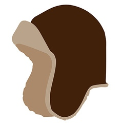 Brown winter hat vector