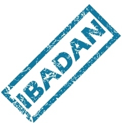 Ibadan rubber stamp vector