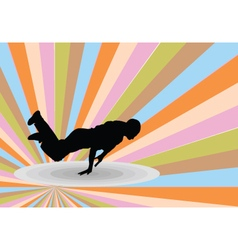 Breakdance with background 2 - vector