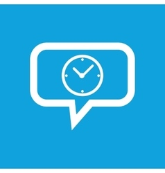 Clock message icon vector