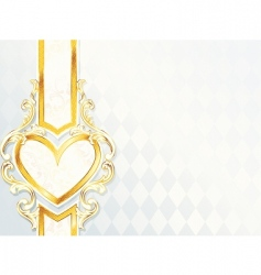 Label with heart emblem vector