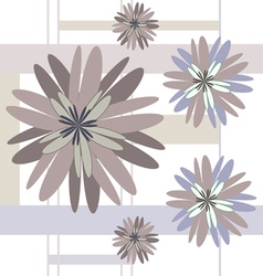 Seamless pattern beige flowers vector