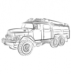 Russian fire engine vector