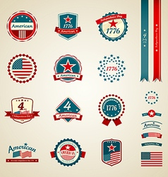 Vintage label and ribbons award collections vector
